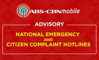 ABS-CBNmobile Advisory: Activation of National Emergency and Citizen Complaint Hotlines
