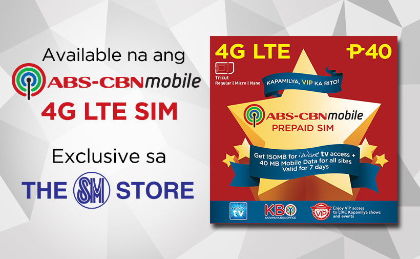 ABS-CBNmobile 4G LTE SIMs Now Available sa SM Stores!