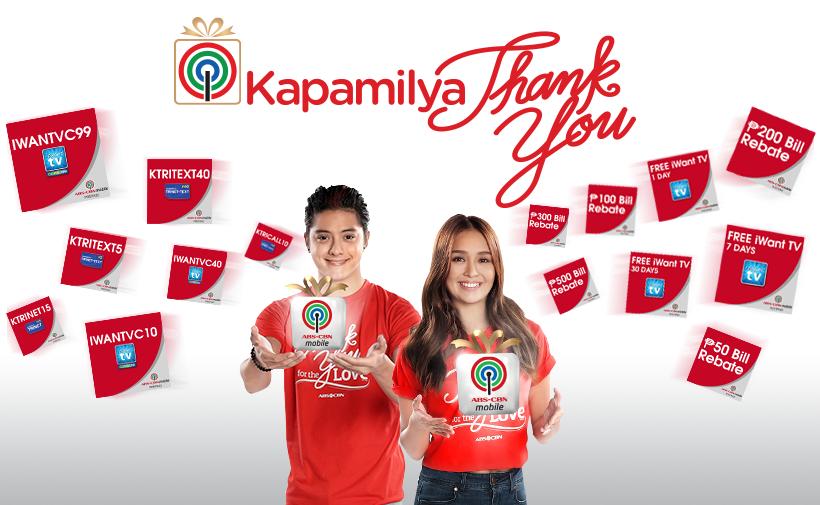 ABS-CBNmobile's Kapamilya Thank You mechanics